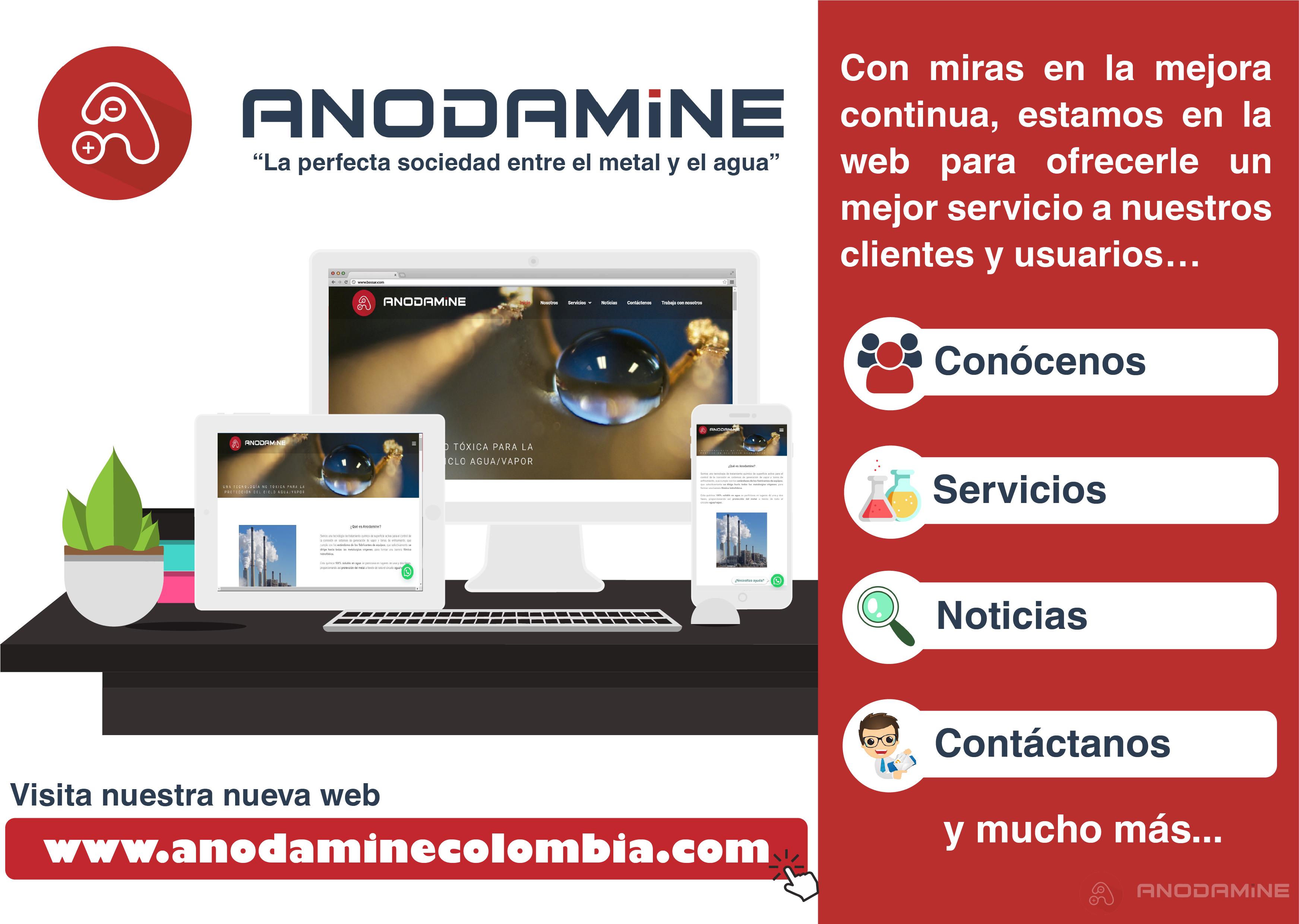 Anodamine Colombia lanza su nueva página